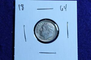 1964 P ROOSEVELT DIME CIRCULATED CONDITION NICE LUSTER 18