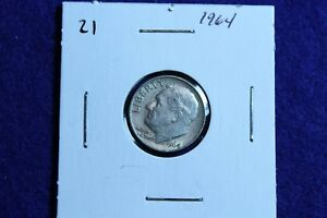 1964 P ROOSEVELT DIME CIRCULATED CONDITION NICE LUSTER 21