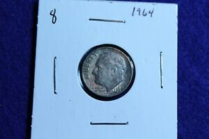1964 P ROOSEVELT DIME CIRCULATED CONDITION NICE LUSTER 8