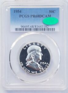 Click now to see the BUY IT NOW Price! 1954 PROOF FRANKLIN HALF DOLLAR PR68 DCAM PCGS GRADED CAC'ED TOP POP
