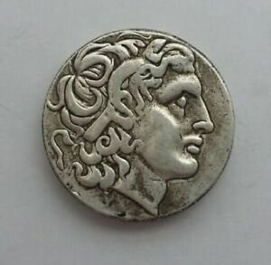 ANCIENT ALEXANDER III THE GREAT GREEK COIN 336 323 BC SILVER PLATED
