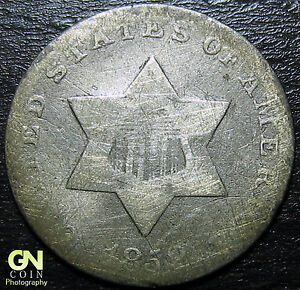 1852 3 CENT SILVER PIECE      MAKE US AN OFFER   Y5459