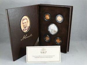 2009 LINCOLN COIN AND CHRONICLES SET W/ COA & 90  SILVER LINCOLN COIN