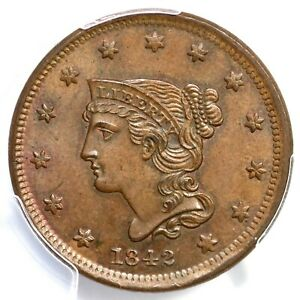 Click now to see the BUY IT NOW Price! 1842 N 2 PCGS MS 64 BN SMALL DATE BRAIDED HAIR LARGE CENT COIN 1C