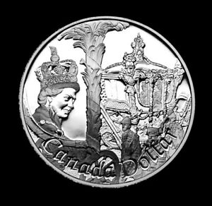 1952 2002 CANADIAN SILVER PROOF $1 QUEEN ELIZABETH'S ASCENSION TO THE THRONE