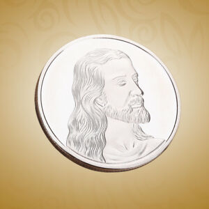 JESUS COMMEMORATIVE COIN ROUND CHRISTIAN COLLECTIBLE ANTIQUE COIN FOR COLLECTION