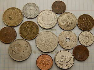 COINS HOME LOT 15 CIRCULATED 1956  DIFFERENT WORLD SET5S3 UNCERTIFIED UNGRADED