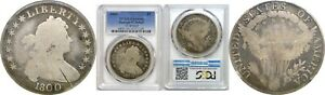 1800 $1 DRAPED BUST SILVER DOLLAR 12 ARROWS PCGS GENUINE DAMAGED GOOD DETAILS