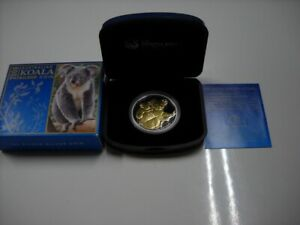 Click now to see the BUY IT NOW Price! CB609  AUSTRALIA 2008 PERTH MINT AUSTRALIAN KOALA 1OZ FINE SILVER GILDED PROOF