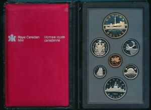 1984 CANADA PROOF SET ROYAL CANADIAN MINT 7 STUNNING PROOF COINS  SHIPS FREE