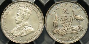Click now to see the BUY IT NOW Price! AUSTRALIA 1934 SIXPENCE 6D PROOF PCGS PR66 LOW MINTAGE 50 COINS STUNNING