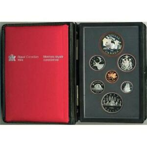 1981 DOUBLE DOLLAR CANADIAN PROOF SET 7 COINS WITH COA & OUTER BOX