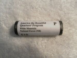 2013 P U.S. MINT ATB QUARTER ROLL WHITE MOUNTAIN NATIONAL FOREST