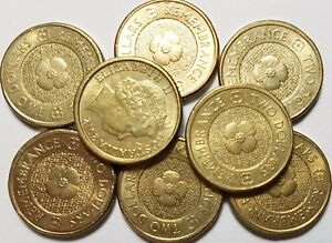 2012 GOLD POPPY $2 CIRCULATED