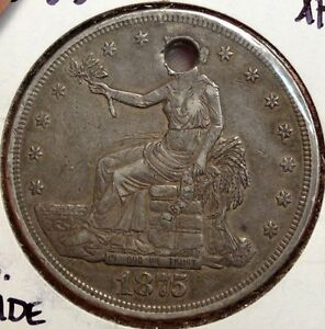 1875 S TRADE DOLLAR SHARP COIN NICE FOR TYPE DISCOUNTED  1214 21