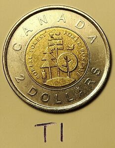 2011 CANADA 2 DOLLAR BOREAL FOREST TOONIE COIN T1