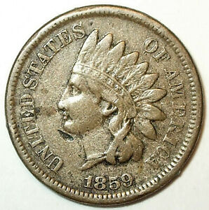 1859 INDIAN HEAD CENT COPPER/NICKEL LIBERTY.