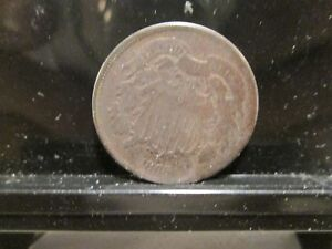 1865 US 2 CENT ROTATED DIE  GRADE GOOD  P 148