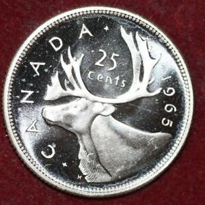 CANADA 1965 25 CENTS SILVER  FOREIGN COIN