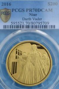 Click now to see the BUY IT NOW Price! 2016 STAR WARS DARTH VADER 1 OZ .999 GOLD PCGS PR70 1 OF ONLY 2 NIUE $200 FINEST