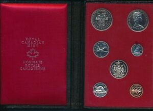 1971 CANADA DOUBLE DOLLAR PROOF SET 7 COINS ORIGINAL BOX/CASE SHIPS FREE