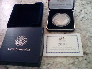 2010 BOY SCOUTS CENTENNIAL PROOF SILVER DOLLAR