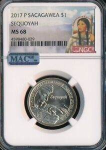 Click now to see the BUY IT NOW Price! 2017 P SACAGAWEA DOLLAR  SEQUOYAH NGC MAC MS68