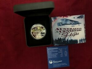 Click now to see the BUY IT NOW Price! CB983  AUSTRALIA 2010 PERTH MINT AUSTRALIAN CENTENARY OF FLIGHT COLOURED REVERSE