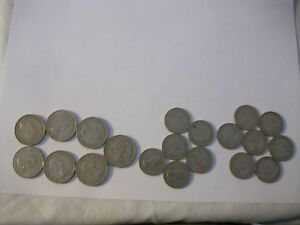 FOREIGN COINS LOT 20 TOTAL ELIZABETH II SHILLINGS 40'S 50'S 60'S AND UP