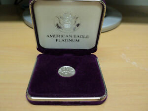 2002 PLATINUM PROOF $10 AMERICAN EAGLE COIN 1/10/ OUNCE