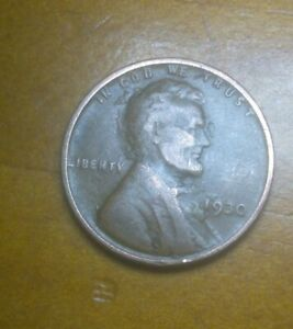 1930 LINCOLN WHEAT PENNY WITH LAMINATION ERROR ON OBVERSE/REVERSE