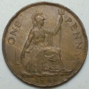 GREAT BRITAIN  UK 1948  ONE PENNY  COIN LG1020