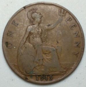 GREAT BRITAIN  UK 1919  ONE PENNY  COIN LG1015
