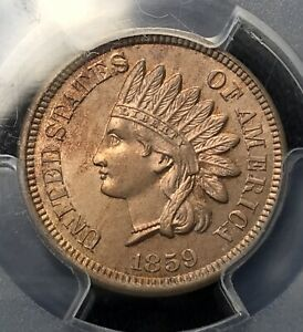 Click now to see the BUY IT NOW Price! 1859 INDIAN HEAD CENT REVERSE SHIELD   PCGS MS64 JUDD J 228 10499