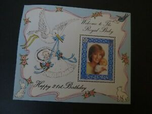 PRINCESS DIANA  MEMORIAL MINT STAMP WELCOME TO THE ROYAL BABY ISLE OF MAN
