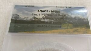 2015 AMERICA THE BEAUTIFUL  BOMBAY HOOKS  DE NP 5 OZ SILVER ANACS MS69 FS