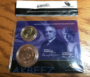 Click now to see the BUY IT NOW Price! 2014 WARREN HARDING PRESIDENTIAL COIN & FIRST SPOUSE MEDAL SET XU1   FREE SHIP