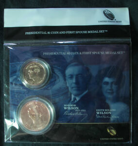 Click now to see the BUY IT NOW Price! 2013 WILSON EDITH PRESIDENTIAL COIN & FIRST SPOUSE MEDAL SET XR7   FREE SHIP