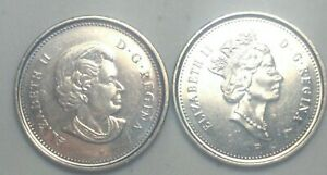 2003 P  CANADA 5 CENT NICKEL COINS NEW & OLD EFFIGY N1009