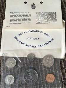 1971 CANADA 6 COIN PL MINT SET IN ORIGINAL RCM PACKAGING