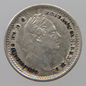 GREAT BRITAIN 1 1/2 PENCE  1834 MAUNDY  T49 387