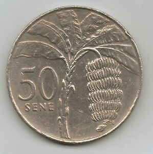 SAMOA   50 SENE   TANUMAFILI II 2002 COPPER NICKEL  14.14 G   32.3 MM