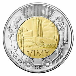 BUY 1 COIN VIMY 2 DOLLART 2017 CANADA MINT SEAL RMC  REMEMBER DAY