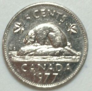 1977 LOW 7 CANADA 5 CENT NICKEL COIN N1001