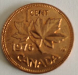 CANADA 1 CENT PENNY  1976  PENNY NICE LUSTRE