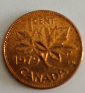 CANADA 1 CENT PENNY 1979 PENNY NICE LUSTRE