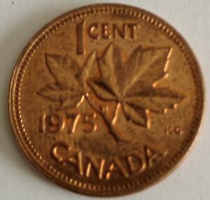 CANADA 1 CENT PENNY  1975  PENNY NICE LUSTRE