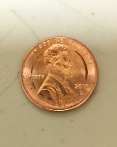 2018  D  PENNY WITH COIN ROLLING MACHINE DAMAGE NO ERROR