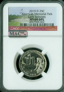 Click now to see the BUY IT NOW Price! 2019 D AMERICAN MEMORIAL QUARTER NGC MAC MS69 DPL 3 KNOWN OF 514 000 GRADED   ..