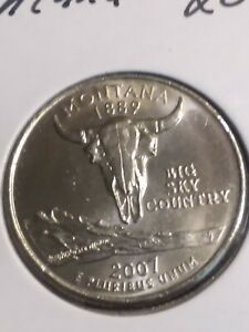 2007 P MONTANA STATE  MT  QUARTER UNCIRCULATED FROM U.S. MINT   STATE QUARTERS